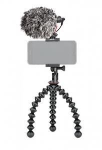 Kit vlogger pentru smartphone cu microfon0