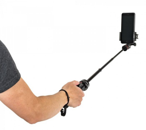 Kit vlogging pentru smartphone cu LED si lavaliera4