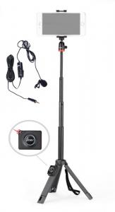 Kit vlogging Telepod pentru smartphone cu telecomanda si lavaliera0