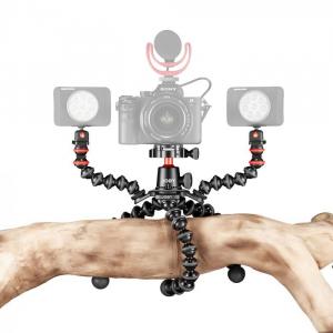 Joby GorillaPod 3K PRO Rig Kit Vlog cu 2 LED si Microfon2