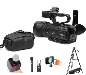 JVC GY-HM250E camera video 4K Live Streaming kit interviu0