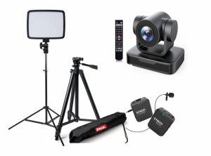 Kit transmisiuni LIVE pentru lectori cu Camera PTZ Full HD 10X USB 2.00