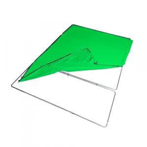 Manfrotto Fundal Chroma Key verde Panoramic cu cadru inclus 4x2.90m11