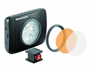 Manfrotto Kit pentru Vlogger LED3 Compact Action cu lavaliera2