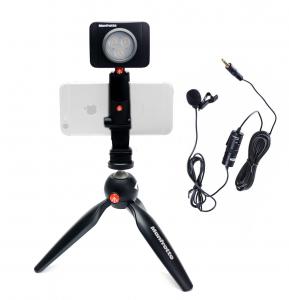 Manfrotto Kit pentru Vlogger LED3 Minitrepied cu lavaliera [0]
