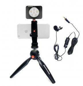 Manfrotto Kit Vlogger LED6 cu lavaliera0