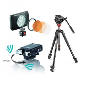 Manfrotto Kit video interviu MVK500 cu LED si microfon0