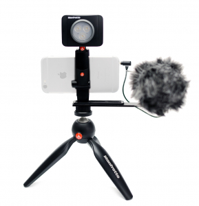 Kit Vlogging Manfrotto Pixi Led 3 cu microfon0