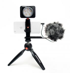 Kit Vogging Manfrotto Pixi Led 6 cu microfon0