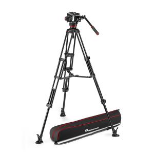Manfrotto MVK504XTWINGA Kit Trepied video cu spreader de podea [0]