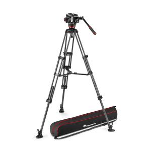 Manfrotto MVK504XTWINMC Kit Trepied video Carbon cu spreader de mijloc [0]