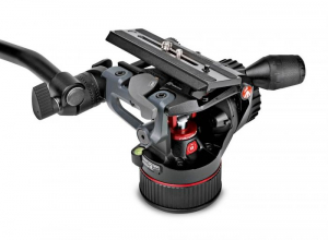 Manfrotto MVKN8TWINMC Nitrotech N8 kit trepied video carbon4
