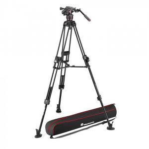 Manfrotto Nitrotech 608/645 Fast kit trepied video cu eliberare rapida0