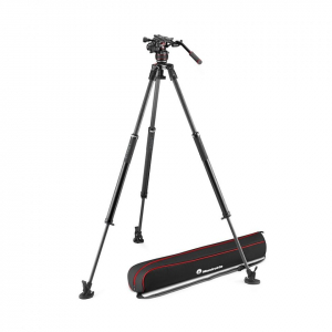 Manfrotto Nitrotech 612/ 635 Trepied video Fast Single Carbon [0]