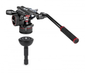 Manfrotto Nitrotech N12 KIT video carbon Twin leg cu mid-spreader1