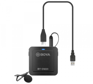 Boya BY-DM20 Kit lavaliera dubla pentru IOS si Android8