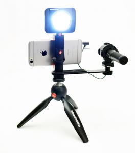 Kit Vlogging Manfrotto Pixi Led 3 cu microfon1