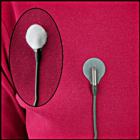 Rycote sticker lipici microfon lavaliera alb [1]