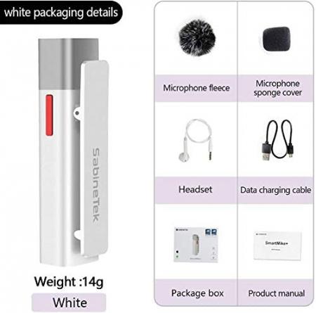SabineTek Microfon Bluetooth SmartMike+ Silver1