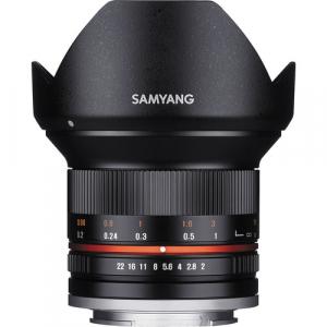 Samyang Obiectiv Foto Mirrorless 12mm F2.0 NCS CS Montura Fujifilm X Negru [0]