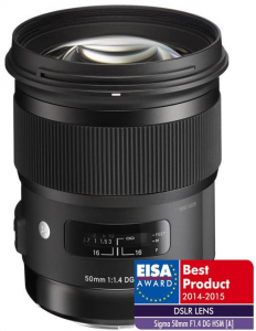 Sigma 50mm Obiectiv Foto DSLR f1.4 DG HSM ART pentru aparate Sigma, Cutie alba [0]