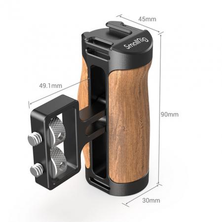 SmallRig 2913 Mini maner lateral din lemn [2]
