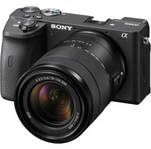 Sony Aparat Foto Mirrorless Kit Alpha A6600 24.2 MP cu Obiectiv 18-135mm 4K Negru0