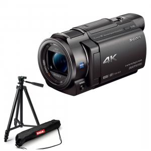 Sony Camera video FDR-AX33 Ultra HD 4K Negru cu trepied foto-video [0]