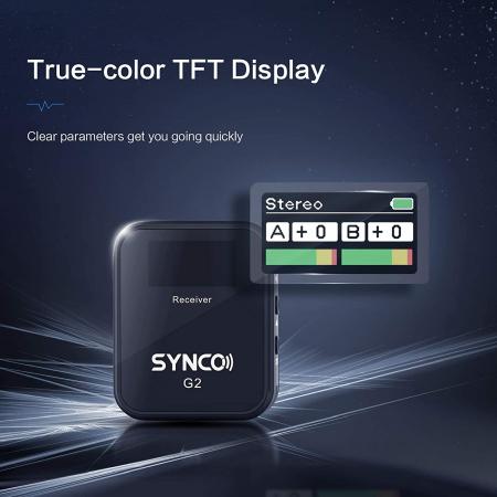 Synco G2 (A1) Lavaliera Wireless cu microfon incorporat [5]