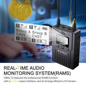 Synco Lavaliera Wireless WMic-T2 cu Transmitter dual [3]