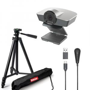 Kit Lector cu Camera WEB Full HD 1080 12MP Zoom 4X USB 2.0 cu microfon si trepied0