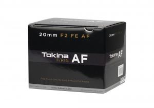 Tokina FiRIN 20mm f/2 FE AF obiectiv montura Sony E2