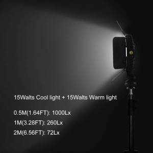 Tolifo PT-15B PRO II Lampa Video LED 144 Bicolor 15W4