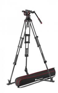 Manfrotto Nitrotech N12 KIT video carbon Twin leg0