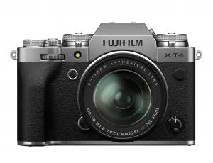 Fujifilm X-T4 Aparat Foto Mirrorless Kit cu Obiectiv 18-55 mm f2.8-4 Argintiu