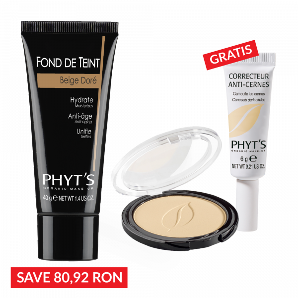 PACHET MAKE-UP: FOND DE TEN + PUDRA COMPACTA - Gratuit Corector anti-cearcan 0