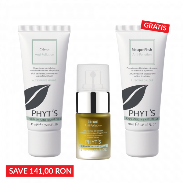 Pachet Oxygenare: Crema Anti-Pollution +  Serum Anti-Pollution- Masca Gratis 0
