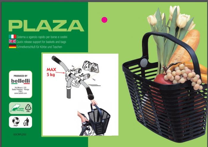 Cos pentru bicileta plastic Bellelli Plaza [2]