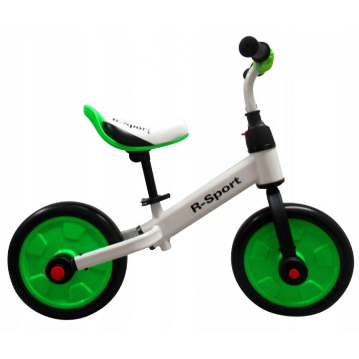 Bicicleta cu pedale si roti ajutatoare R-Sport P1- Verde [2]
