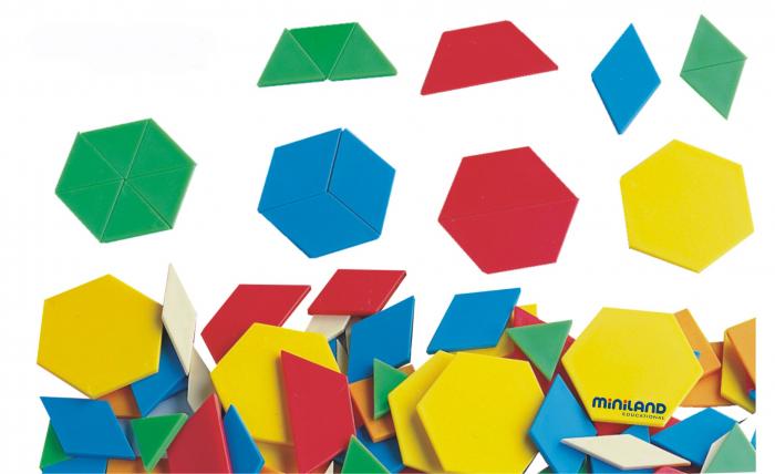 Forme geometrice diverse Miniland 250 buc [0]