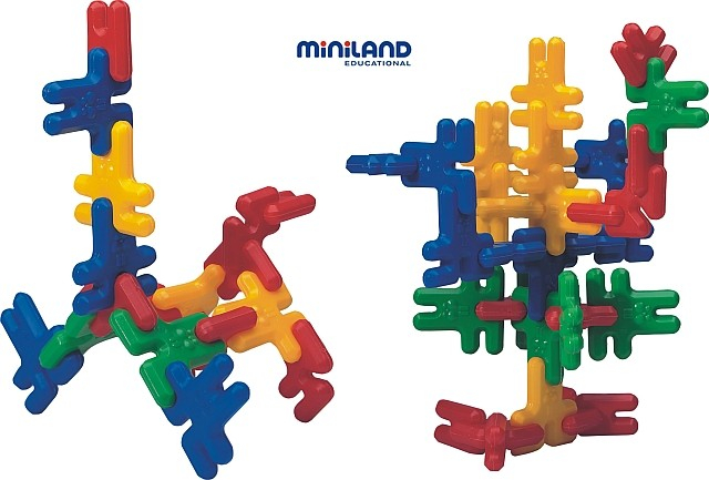 Iepurasi de construit Kim Buni Miniland 74 buc [0]