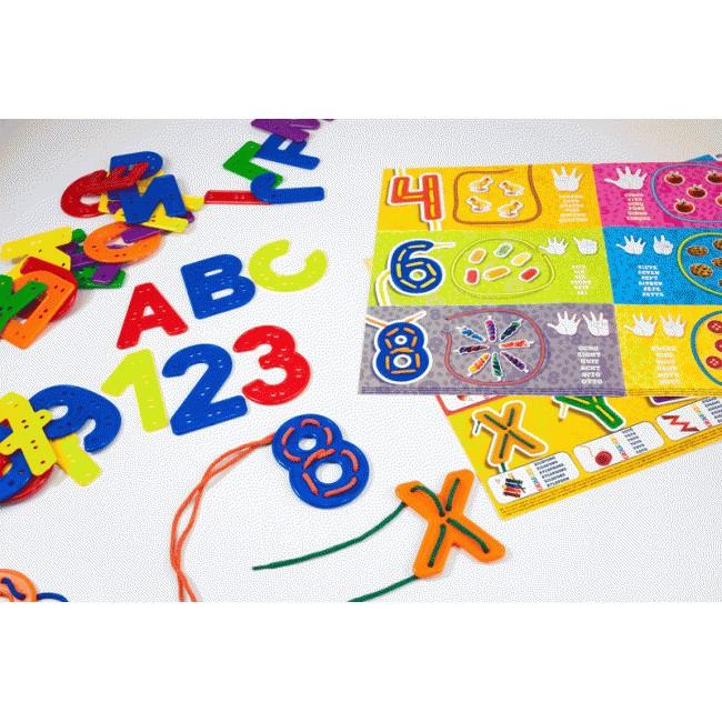 Joc Insireteaza litere si numere Miniland [2]