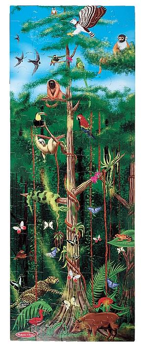 Puzzle de podea Padurea Tropicala 100 pcs - Melissa and Doug [0]