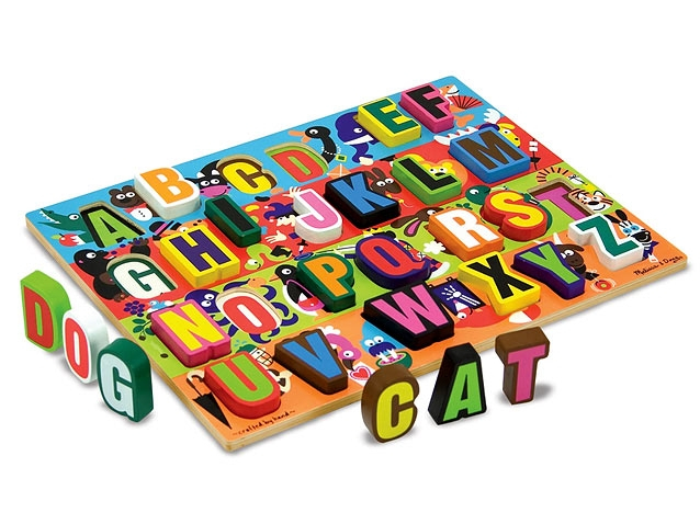 Puzzle lemn in relief Litere - Melissa and Doug [1]