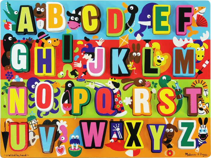 Puzzle lemn in relief Litere - Melissa and Doug [2]