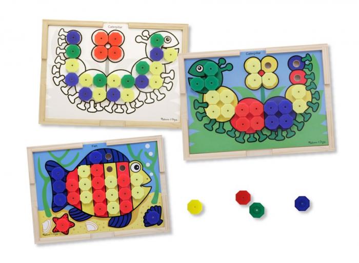 Mozaic din lemn cu culori Melissa and Doug [0]