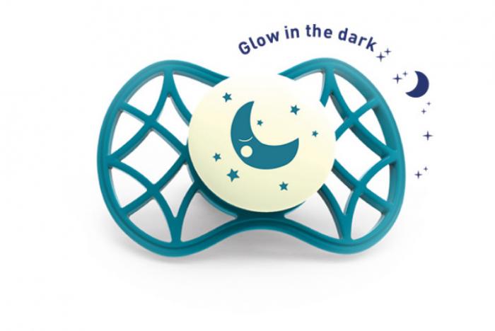 Suzeta simetrica de noapte cu capac protector 0 luni+  Nuvita [1]