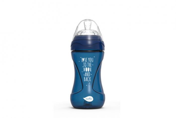 Biberon 250ml - blue inchis - Nuvita [0]