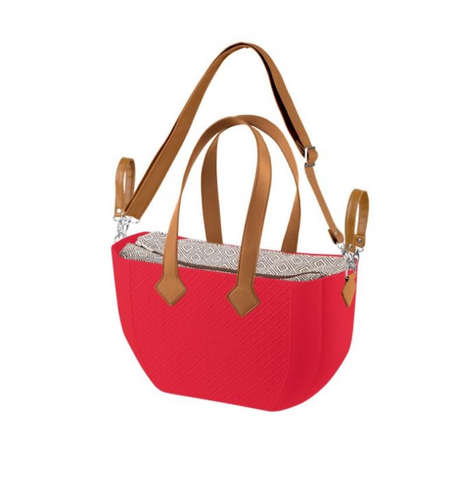 Nuvita Mymia Geanta pentru mamici - Crimson Rhombo Camel + curea pentru geanta [0]