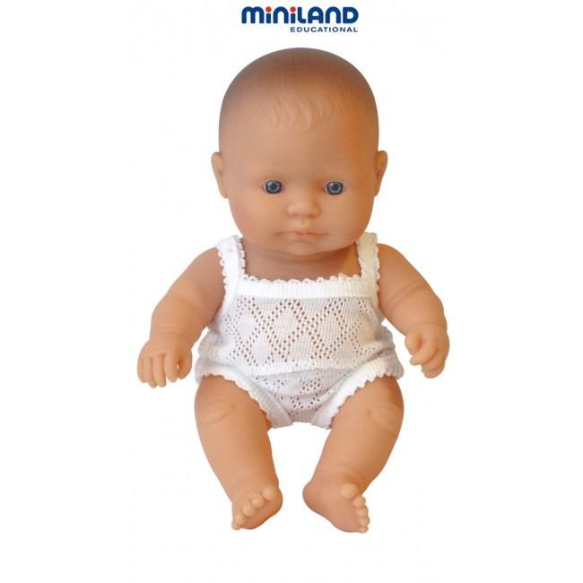 Papusa Baby european fata Miniland 21cm [2]